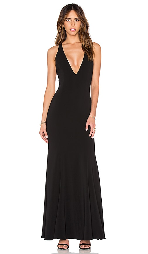 Jay Godfrey Abbotsford Maxi Dress in Black