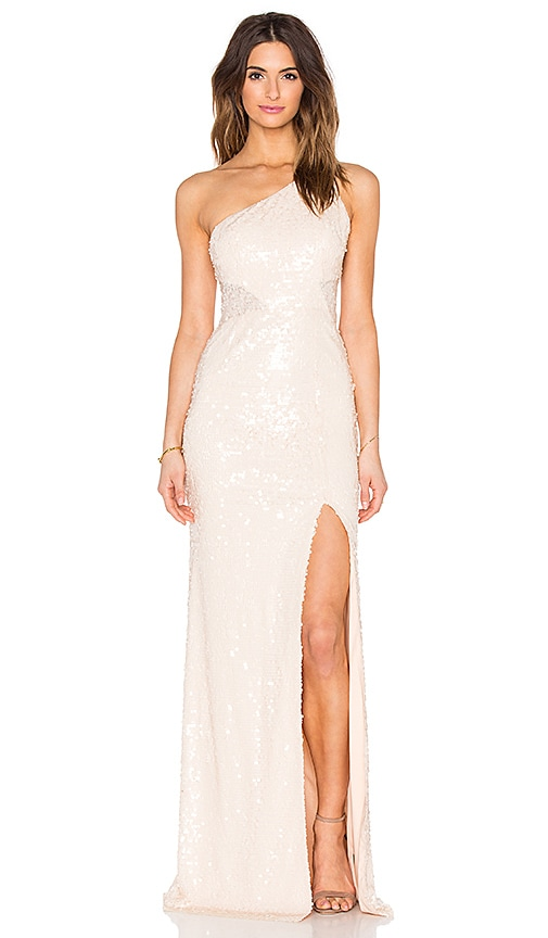 Jay Godfrey Barker Maxi Dress in Beige