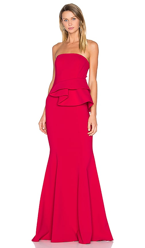 Jay Godfrey Lima Gown in Red