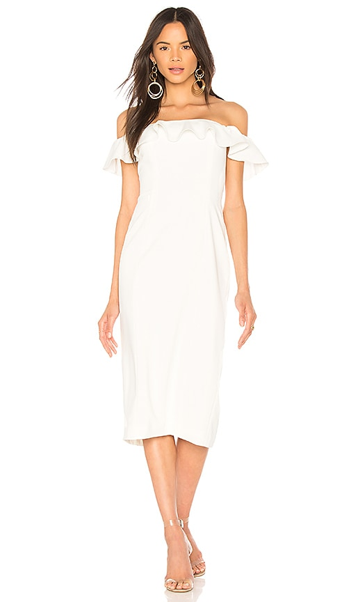 Jay Godfrey Rollins Midi Dress in White
