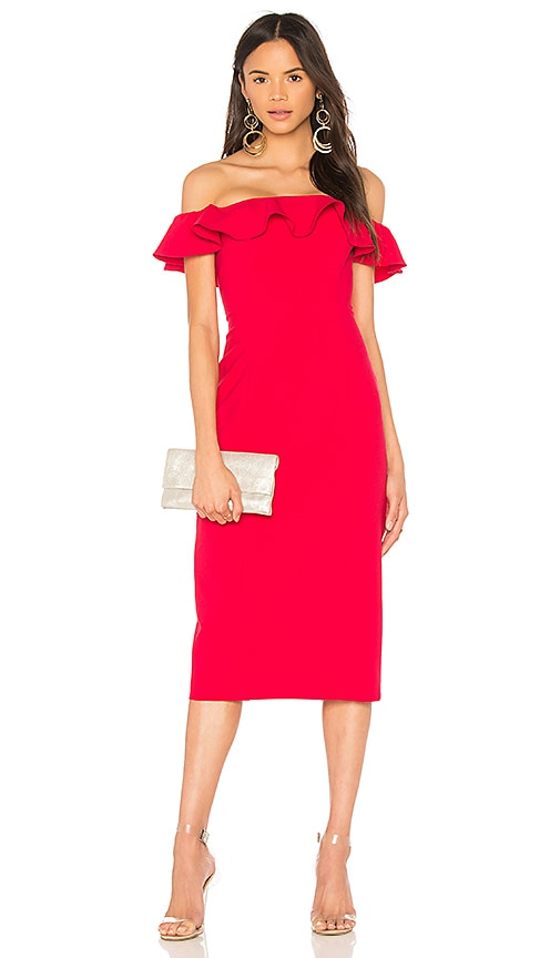 Jay Godfrey Rollins Midi Dress in Red
