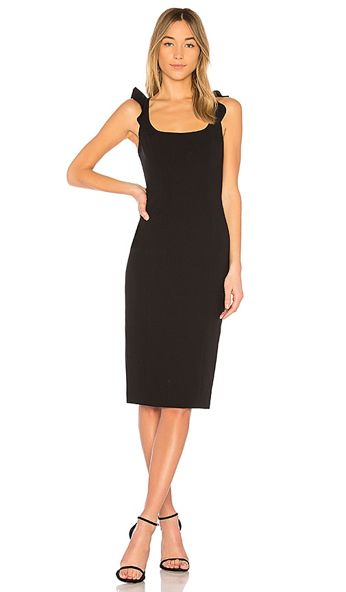 Jay Godfrey Marois Midi Dress in Black