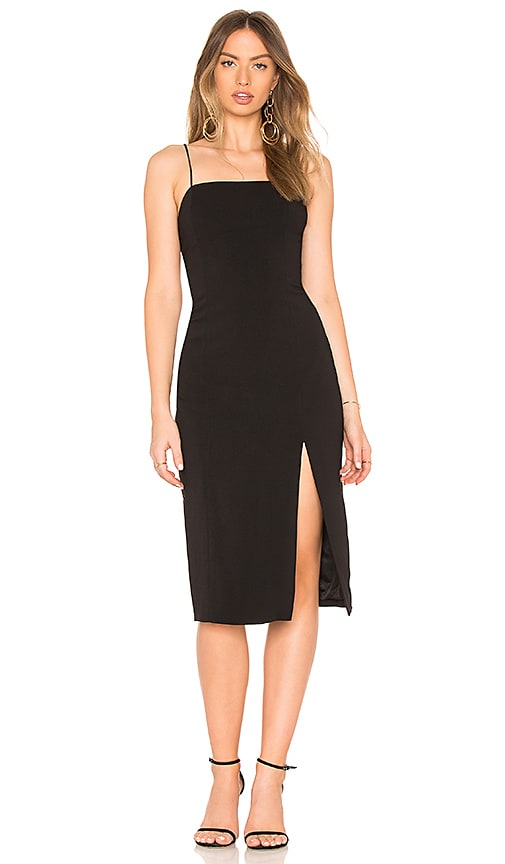 Jay Godfrey Skyler Midi Dress in Black