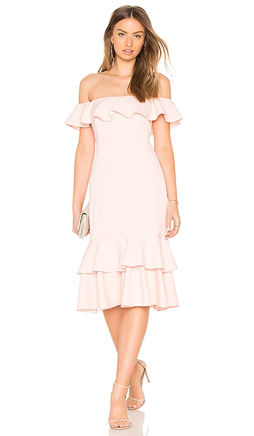 Jay Godfrey Momoa Midi Dress in Pink