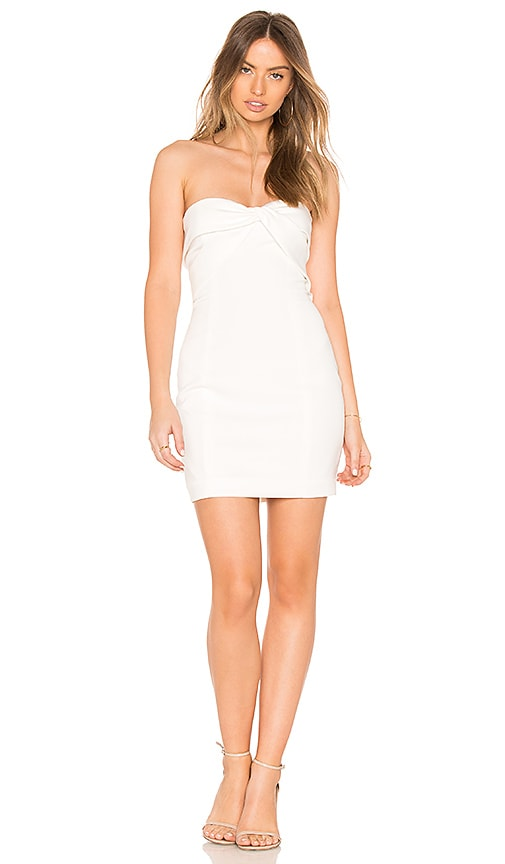 Jay Godfrey Carice Mini Dress in Ivory