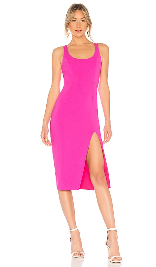 Jay Godfrey Witherspoon Midi Dress in Pink