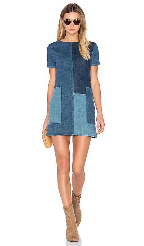 J Brand Luna Shift Dress in Blue