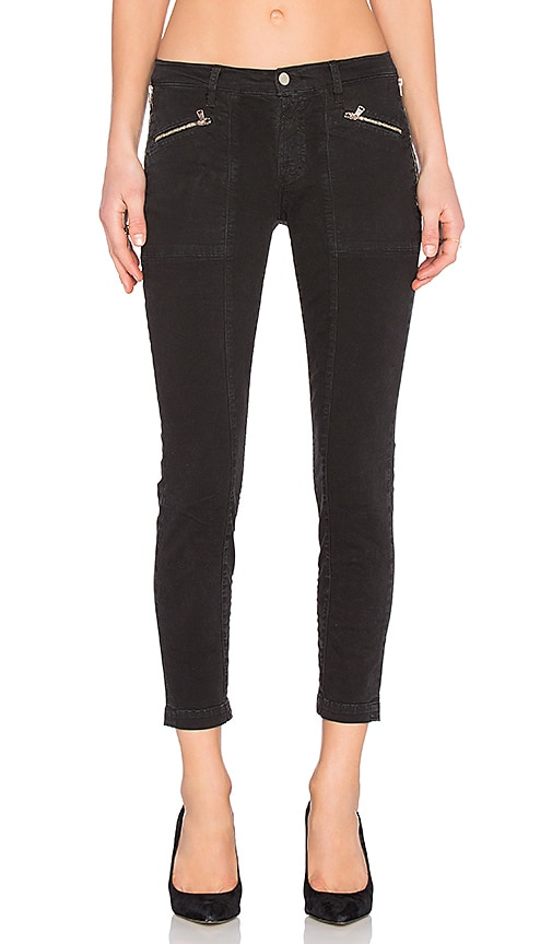 J Brand Genisis Mid Rise Utility Pant in Direct Black