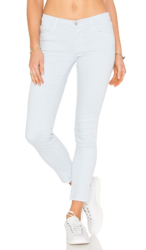 J Brand Mid Rise Skinny in Pale Smoke