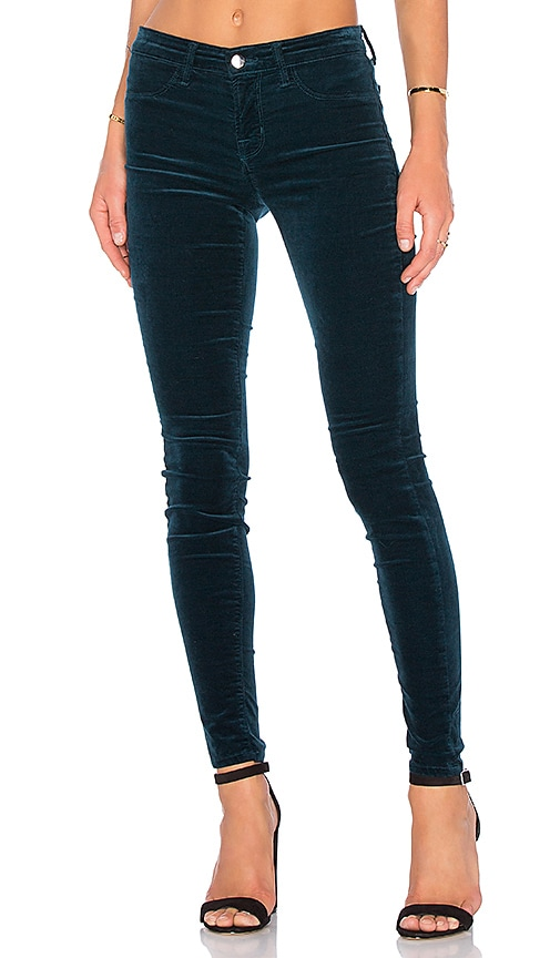 J Brand Mid Rise Super Skinny in Teal