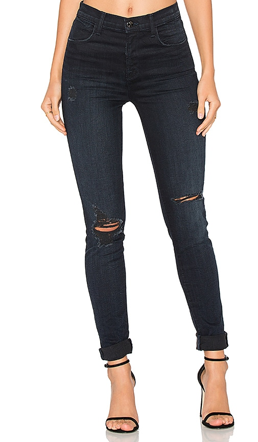 J Brand Maria High Rise Skinny in Destructed Sancitity