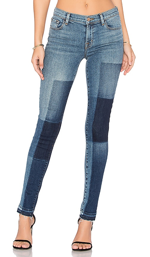 J Brand 811 Mid Rise Skinny in Reunion