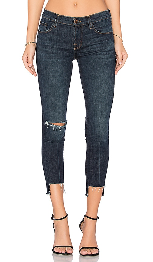 J Brand 9326 Low Rise Crop Skinny in Disguise Destructed