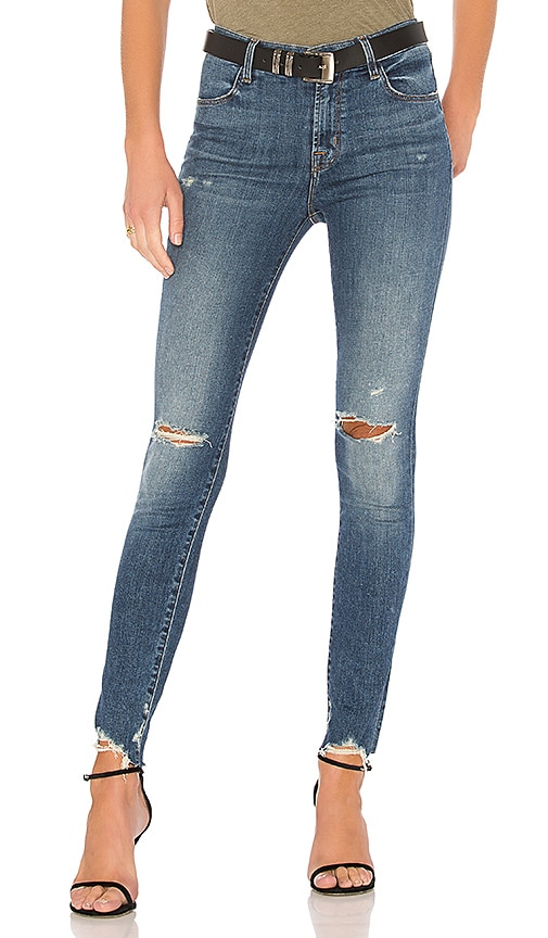 Maria High Rise Skinny Jeans With Distressed Knee And Hem - Revoke destruct blue J Brand Nicekicks For Sale Newest Particular Free Shipping Visa Payment Xt0q7MW3P