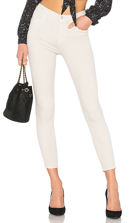 J Brand Alana High Rise Crop Skinny in Honesty