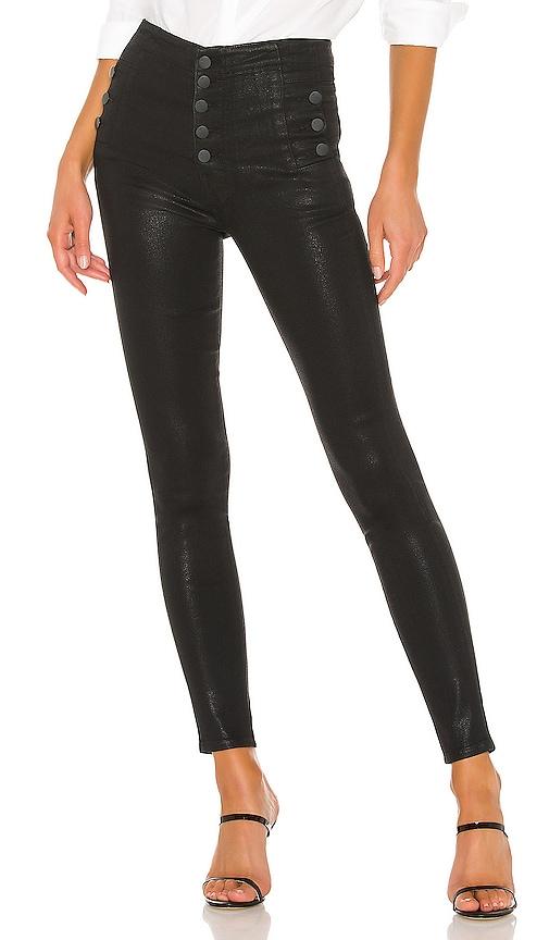 J Brand Natasha High Rise Skinny Jeans in Fearful Black