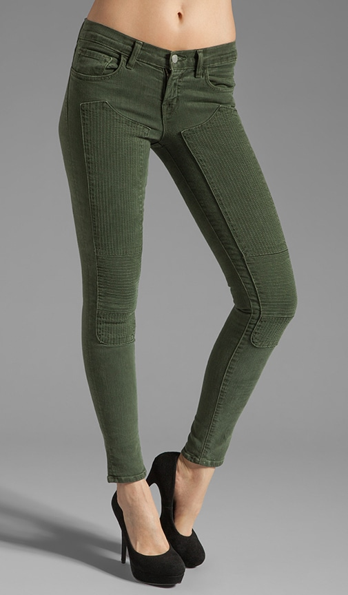 Jean Roz Skinny à coutures taille moyenne