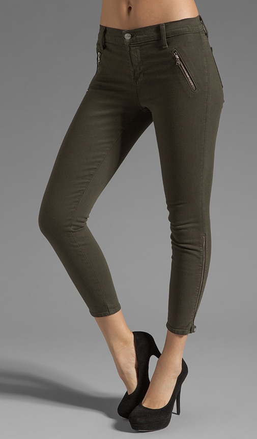 Carey Jewel Zip Moto Capri