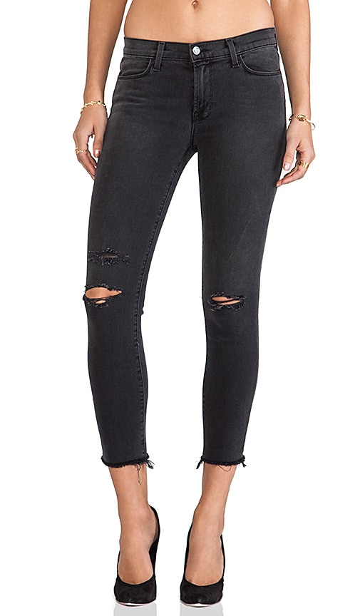 Cropped Mid Rise Skinny