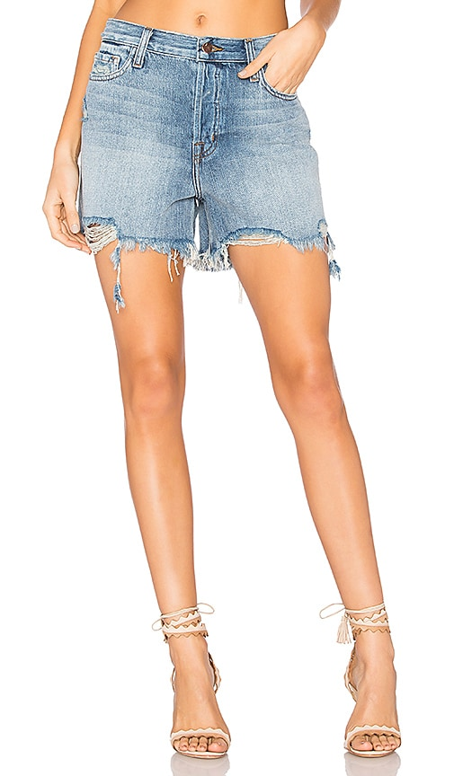 J Brand Ivy High Rise Short in Wrecked