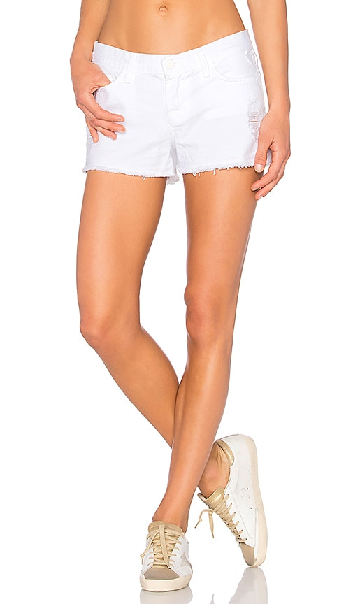 J Brand Low Rise Cut Off Short in Vixen White