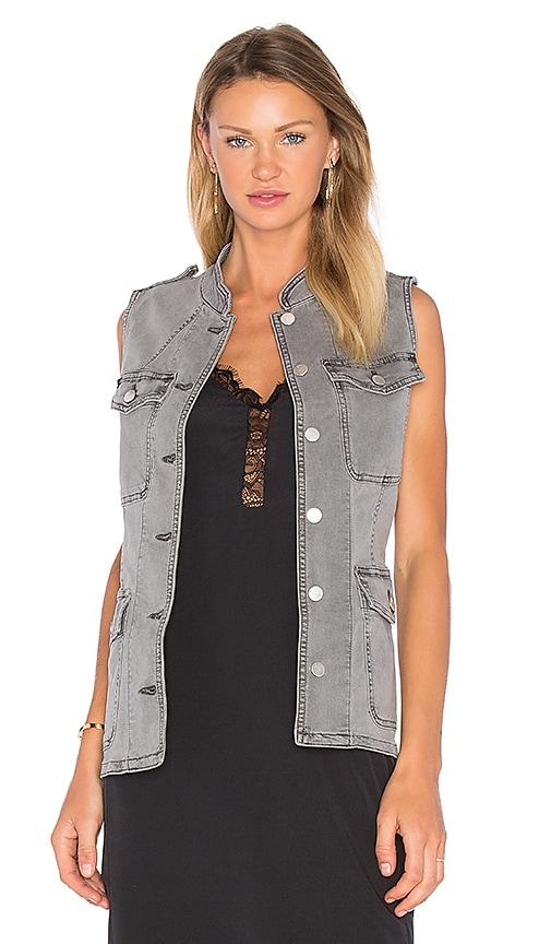 J Brand Astrid Utility Vest in Gray