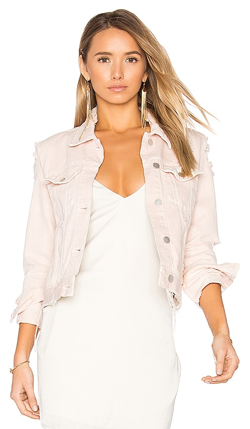 J Brand Harlow Distressed Jacket in Teaser