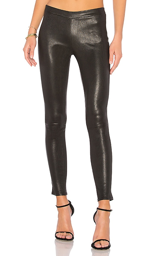 Leather Pull Up Legging