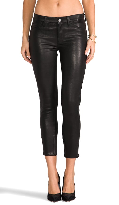 Bonded Studded Leather Pant