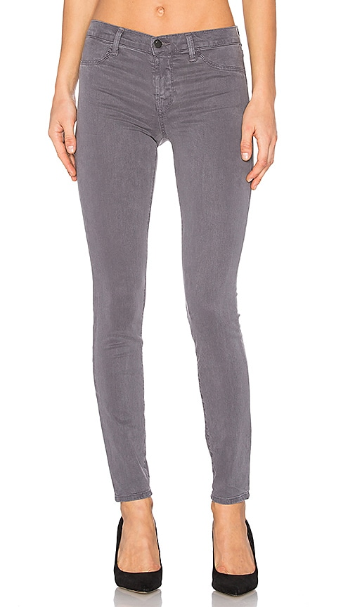 J Brand Super Skinny Pant in Storm Grey