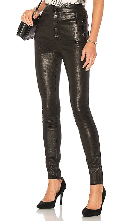 J Brand Natasha Leather Pant in Black | REVOLVE
