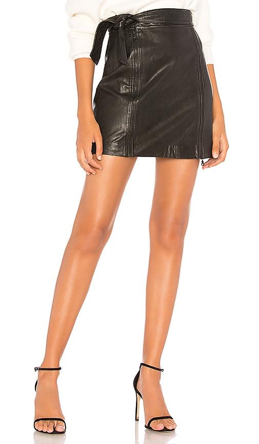 J Brand Christa Zip Mini Skirt in Black | REVOLVE