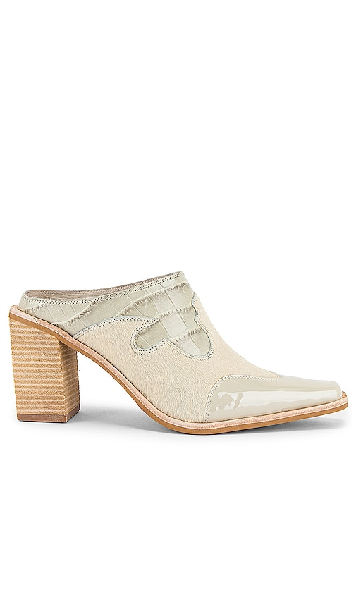 Jeffrey Campbell Cowgirl Mules in Ivory Exotic