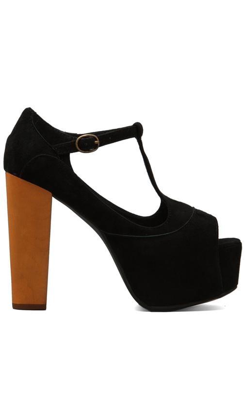Foxy Platform w/ Wood Heel