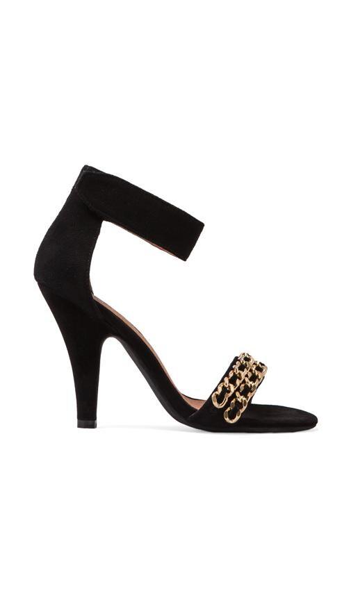 Hough Suede Embellished Heel