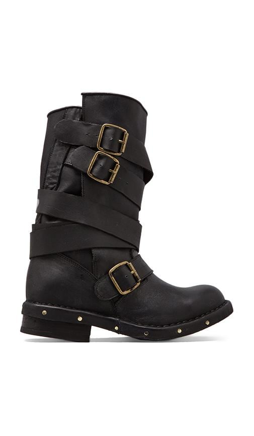 Brit Leather Moto Boot