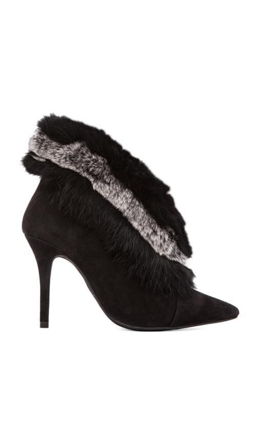 Darva Rabbit Fur Heeled Bootie