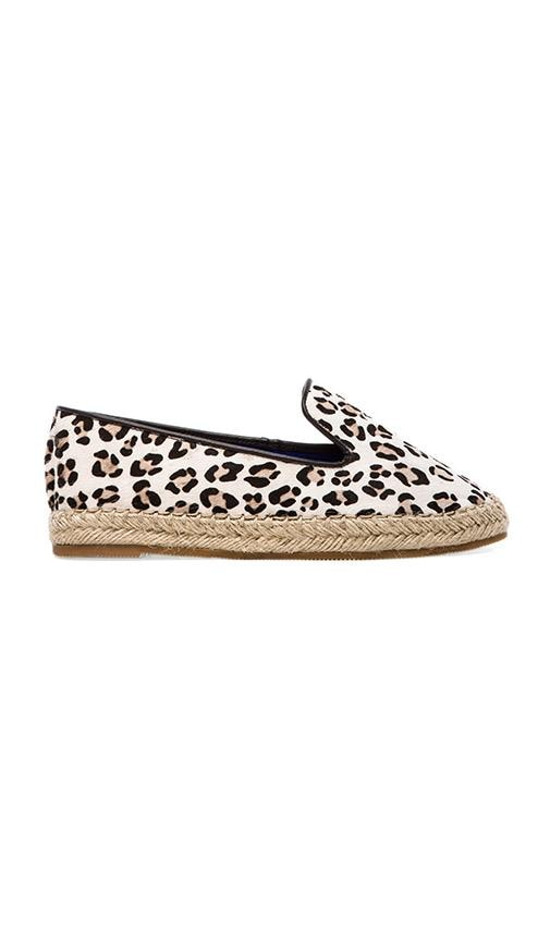 Abides-F Flat with Calf Fur