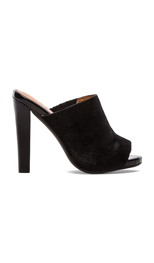 Curie Heel with Calf Fur