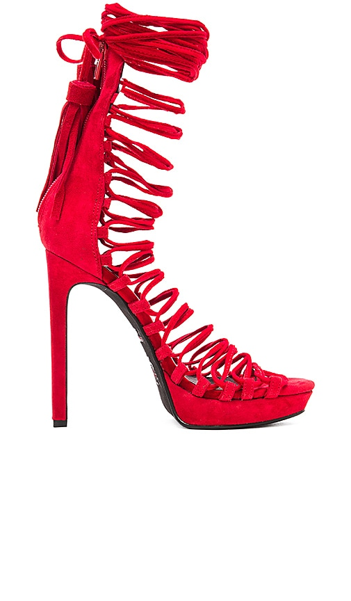 Jeffrey Campbell x REVOLVE Advert Heel in Red Suede