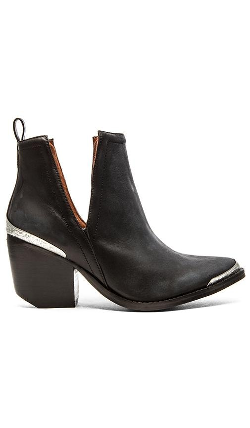 Jeffrey Campbell Cromwell Bootie In Black Distressed in Black Distressed