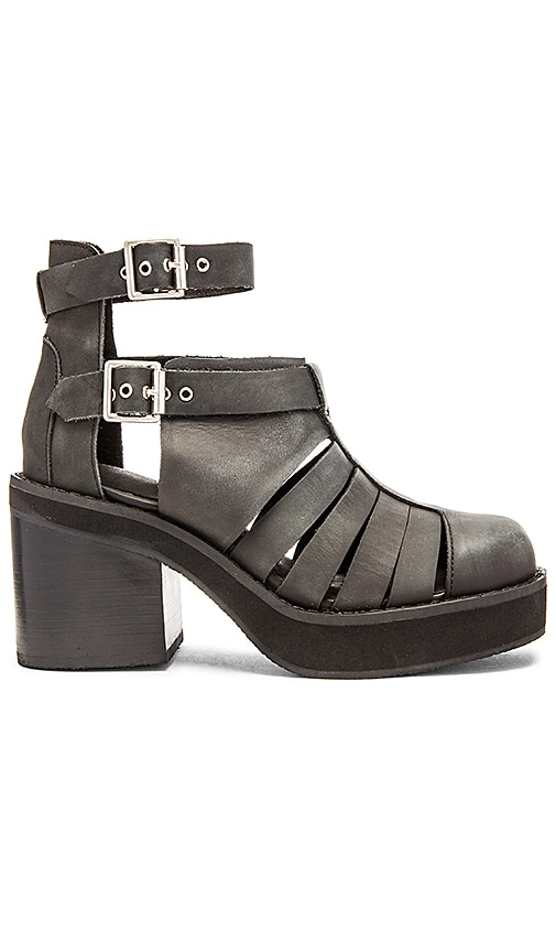 Jeffrey Campbell Slough Bootie in Black Washed