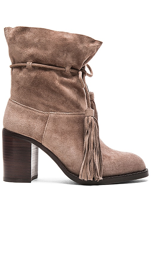Jeffrey Campbell Laforge Booties in Taupe Suede