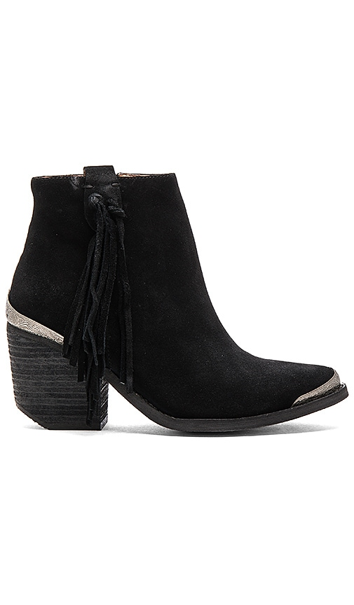 Jeffrey Campbell Pascal Booties in Black Oiled Suede