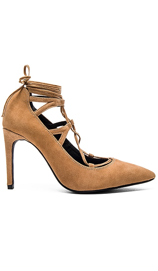 Jeffrey Campbell Brielle Hi Heel in Camel Suede