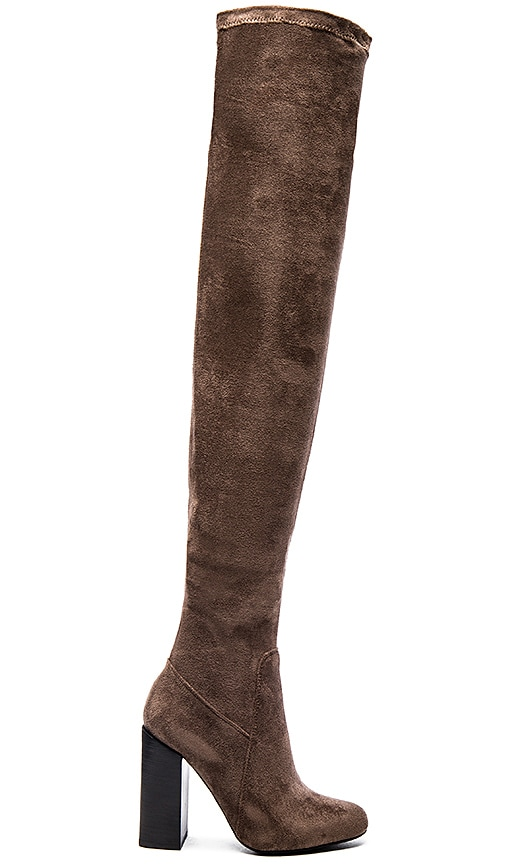 Jeffrey Campbell Perouze Boots in Grey Suede (with Black Heel)