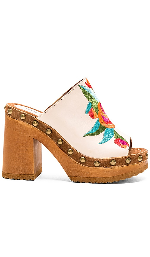 Jeffrey Campbell Woodrow Heel in Natural Tan Suede Multi