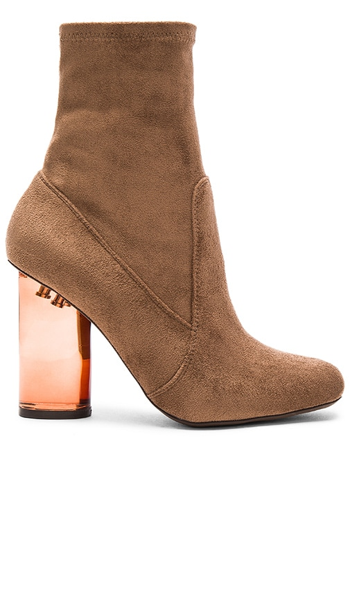 Jeffrey Campbell Lucine Booties in Brown Suede Combo