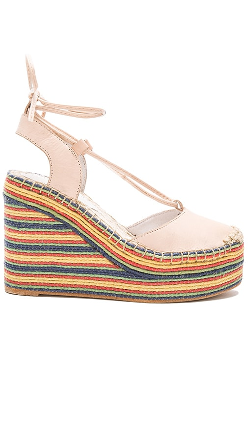 Jeffrey Campbell Rizzoli Wedge in Beige