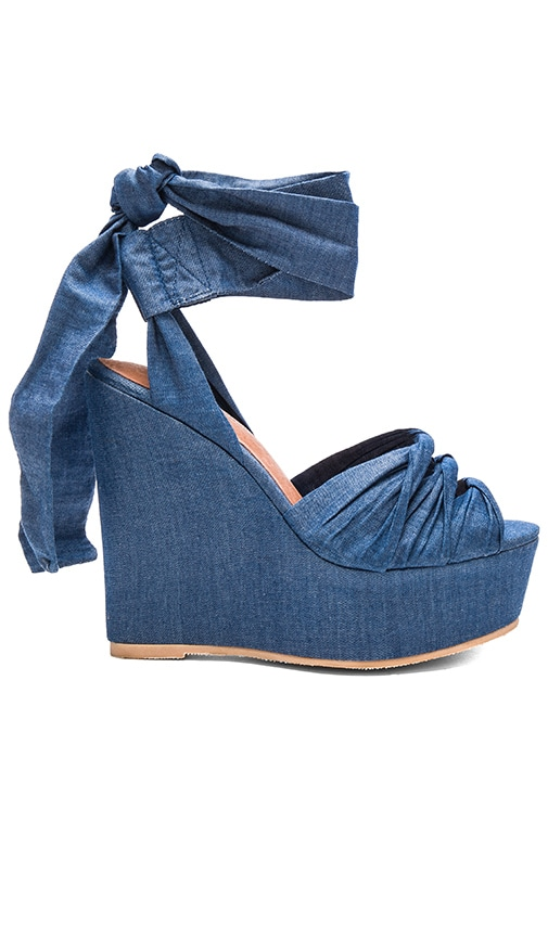 Jeffrey Campbell Xenobia Wedge in Blue